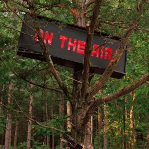 Picture of On Air sign in tree to depict Wave Farm